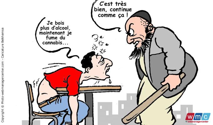 tunisie_webmanagercenter_directinfo_wmc_alcool-dans-le-collimateur-des-radicaux_dessin-caricature-chadly-belkhamsa