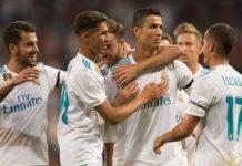 Joie des joueurs du Real Madrid