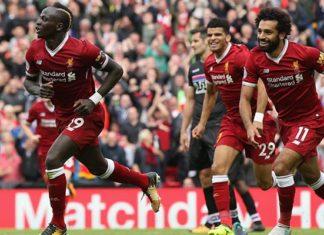 Salah et Mané fêtent un but