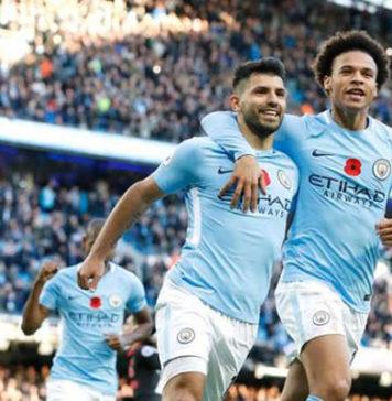 Manchester City, la joie d'Aguero et Sane