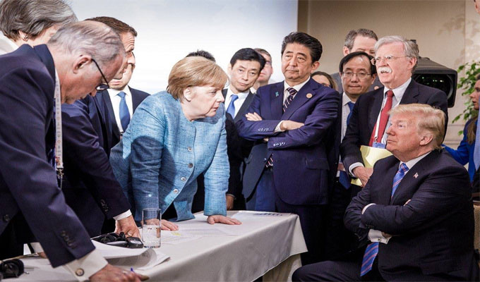 G7: Angela Merkel qualifie les tweets de Donald Trump de