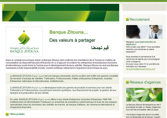 lettre de motivation banque tunisie
